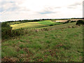 TG0642 : Undulating fields east of The Hangs, Cley by Evelyn Simak