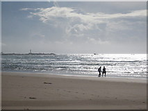 SW3526 : Sennen beach at low tide by Rod Allday