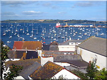 SW8032 : Falmouth rooftops by Rod Allday