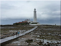 NZ3575 : Whitley Bay: causeway to St. Mary's Island by Chris Downer