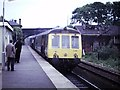 SO9669 : Diesel Multiple Unit at Bromsgrove, 1975 by Rob Newman