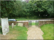 SU5846 : Dummer - All Saints Church: exiting the churchyard by Basher Eyre