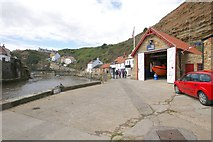 NZ7818 : IRB Station, Staithes by Dave Hitchborne