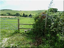 TQ2411 : Signpost and stile on the way to Fulking by Shazz