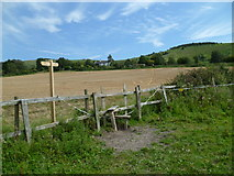 TQ2411 : Another stile and signpost on the way to Fulking by Shazz