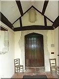 SU5846 : Dummer - All Saints Church: west door by Basher Eyre
