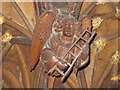 SJ4066 : Medieval wood carving in Chester Cathedral by Jeff Buck