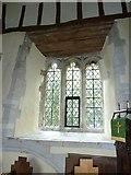 SU5846 : Dummer - All Saints Church:  church window by Basher Eyre