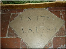 SU5846 : Dummer - All Saints Church:  floor memorial by the altar by Basher Eyre