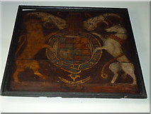 SU5846 : Dummer - All Saints Church:  coat of arms by Basher Eyre