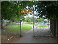 TQ1275 : Entrance to Beaversfield Park by Marathon