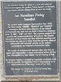 NT0337 : An unusual sundial in Biggar: descriptive plaque by David Purchase