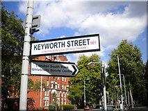 TQ3179 : Street signs, Borough Road SE1 by Robin Sones
