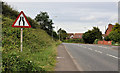 "J4469 : ""Road narrows on both sides"" sign, Comber by Albert Bridge"