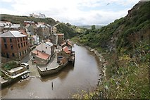 NZ7818 : Staithes - Panorama #1 of 5 by Dave Hitchborne