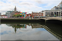O1634 : City Quay, Dublin, Ireland by Christine Matthews