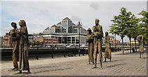 O1634 : The Famine Memorial, Custom House Quay, Dublin, Ireland by Christine Matthews