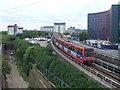 TQ4180 : DLR leaving Prince Regent by Malc McDonald