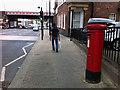 SE3220 : Pillar box near Wakefield Westgate station by Phil Champion