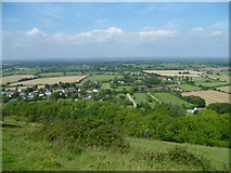 TQ2411 : Fulking village seen from the south by Shazz