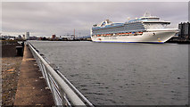 "J3576 : The ""Crown Princess"" at Belfast (2) by Albert Bridge"