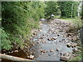 SN8416 : Nant Haffes flows away from Pont Haffes, Glyntawe by Jaggery