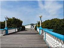 SD3317 : Bridge over Marine Lake by Gerald England