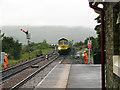 SD7891 : A coal train approaches Garsdale station by John Lucas