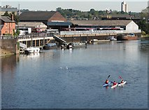SK5838 : A view from Trent Bridge on an August morning by John Sutton