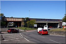 SU1585 : The Transfer Bridges over County Road by Steve Daniels