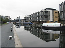 NT2472 : New houses on the Union Canal by M J Richardson