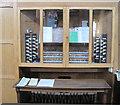 TQ7909 : Organ Console, St John's church by Julian P Guffogg