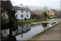 ST2896 : Canalside houses, Five Locks, Cwmbran by Jaggery