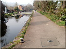 ST2896 : Former canal towpath, Five Locks, Cwmbran by Jaggery