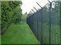 TQ4959 : Boundary fence, Fort Halstead by Robin Webster