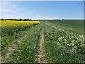 TL5446 : Farmland track by Hugh Venables