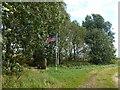 TF3301 : Air crash memorial, Thorney Dyke, Thorney Toll, Peterborough by Richard Humphrey