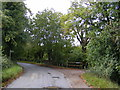 TM2551 : Boulge Road & the footpath to Boulge Park by Adrian Cable