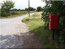 TM2573 : Barley Green & Barley Green Postbox by Adrian Cable