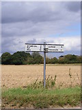TM2573 : Roadsign on the B1117 Laxfield Road by Adrian Cable