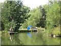 SP2282 : 'Anniversaries' fishing lake, Packington Somers  by Robin Stott