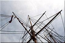 TQ7569 : Rigging, HMS Gannet, Chatham Historic Dockyard, Kent by Christine Matthews