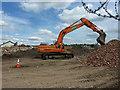 SK9671 : E2V demolition by Richard Croft