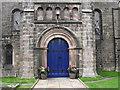 SJ8663 : St John's Church, Buglawton- South door detail by Jonathan Kington