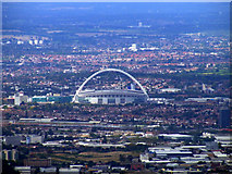 TQ1985 : Wembley Stadium from the air by Thomas Nugent