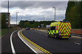 SP0483 : An ambulance speeds along Aston Webb Boulevard, Bournbrook by Phil Champion