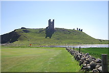 NU2522 : Golf course below the castle by N Chadwick