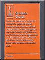 SD3439 : St Chad's (plaque) by David Dixon