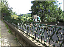 SE1039 : Bingley - railings between Cemetery Road and Keighley Road by Dave Bevis