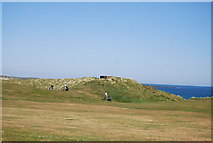 NU2422 : Pillbox, Dunstanburgh Castle Golf Course by N Chadwick
